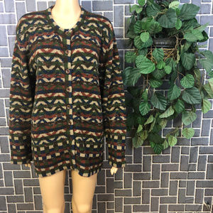 LE MODA WOOL BLEND WMS SZ XL SWEATER EUC